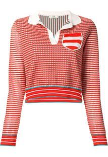 Fendi Camisa Polo De Tricô - Laranja