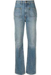 Khaite Calça Jeans Reta The Isabella - Azul