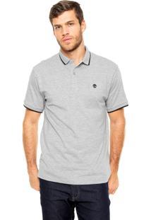 Camisa Polo Timberland Slim Cinza