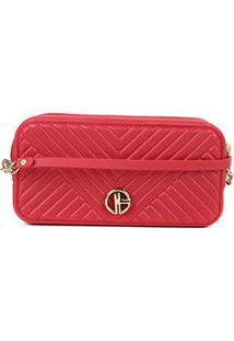 Bolsa Giulia Bardô Mini Bag Matelassê Feminina - Feminino-Vermelho