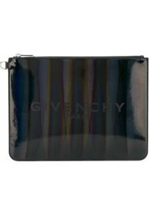 Givenchy Bolsa Clutch Listrada Com Logo - Preto