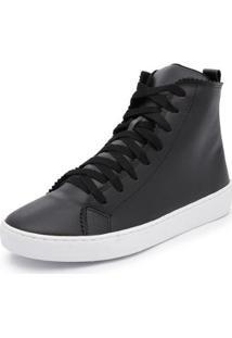 Tênis Cano Alto Top Franca Shoes Feminino - Feminino-Preto