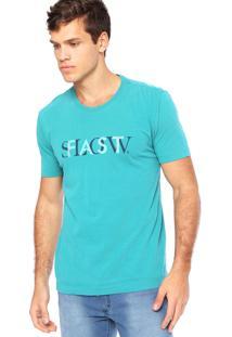 Camiseta Manga Curta Vr Estampada Verde