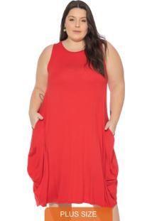 Vestido Amplo Feminino Vermelho
