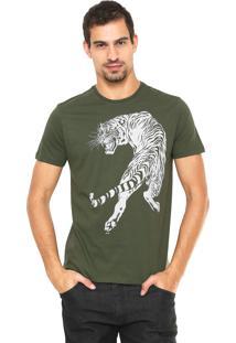 Camiseta Ellus Fine Orchid Verde