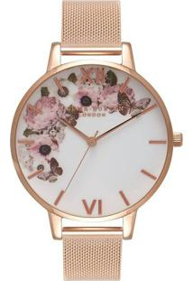 Relógio Olivia Burton Feminino Aço Rosé - Ob16Wg18