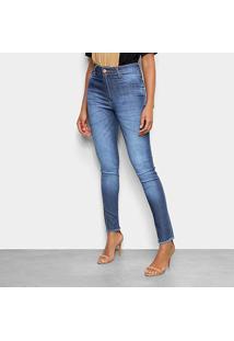 Calça Jeans Skinny Tks Estonada Cintura Alta Feminina - Feminino