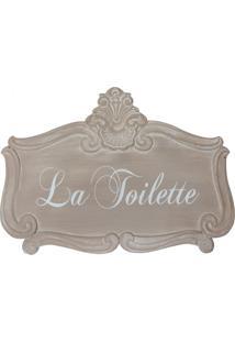 Placa Decorativa La Toilette