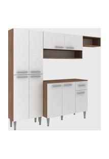 Cozinha Modulada C/ Tampo Madri 9 Portas Teka/Branco Fellicci Móveis