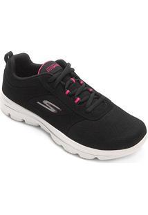 Tênis Skechers Go Walk Evolution Ultra Feminino - Feminino-Preto+Pink