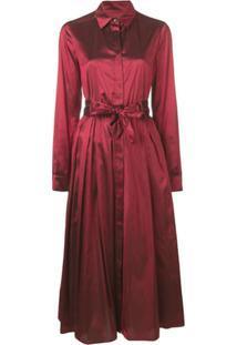 Max Mara Midi Shirt Dress - Vermelho