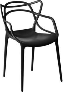Cadeira Facthus Allegra Sala De Jantar Preto - D'Rossi - Preto - Dafiti