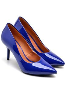 Scarpin Casual Gisela Costa Azul - Azul - Feminino - Dafiti