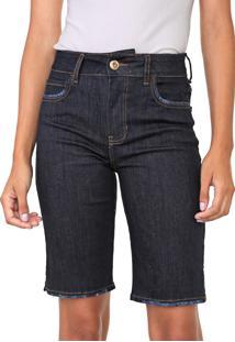 Bermuda Jeans Colcci Bia Azul-Marinho