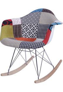 Cadeira Eames Com Braco Base Balanco Patchwork - 36364 - Sun House