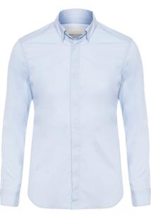 Camisa Masculina Logo - Azul Claro