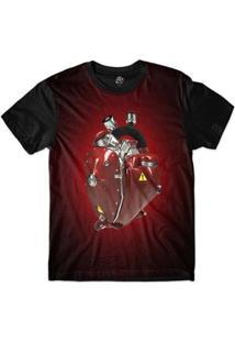 Camiseta Bsc Coração De Máquina Motor Sublimada - Masculino-Vermelho