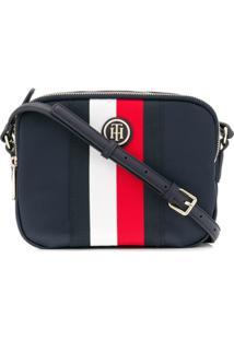 Tommy Hilfiger Logo Stripe Shoulder Bag - Azul