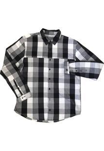 Camisa Salomon Bancok Ls Masculino Gg Preto E Branco