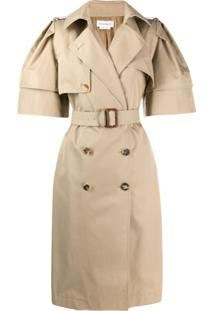 Alexander Mcqueen Trench Coat Oversized - Neutro