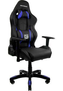 Cadeira Gamer Mx Twelve Preta E Azul