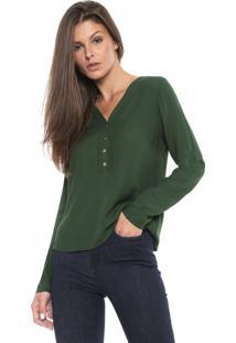 Blusa Cativa Botões Verde