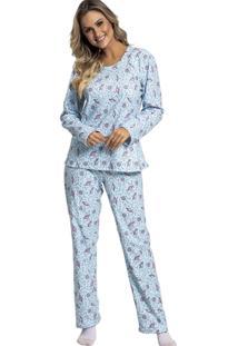 Pijama Recco Comprido De New Soft Azul