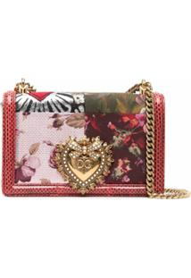 Dolce & Gabbana Devotion Jacquard-Woven Shoulder Bag - Vermelho