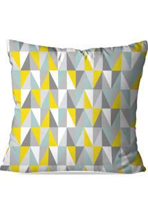Capa De Almofada Love Decor Avulsa Geometric 3D Multicolorido - Cinza - Dafiti