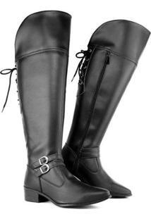 Bota Over The Knee Com Cadarço 11503 Schiareli Feminina - Feminino