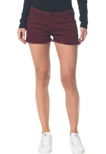 Short Color Five Pockets - Bordo - 34