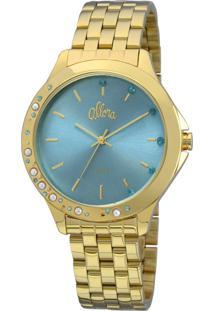 Relógio Allora Pérolas E Cristais Dourado - Al2035Fbt/4A