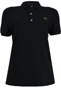 Camisa Polo Feminina - Feminino-Preto