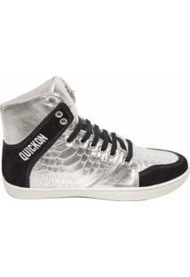 Bota De Treino Sneakers Fitness Feminina Couro Premium Quickon Flat - Feminino