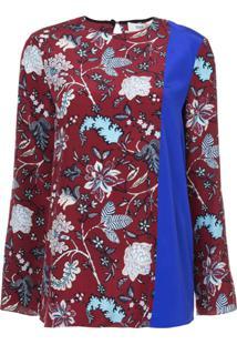 Dvf Diane Von Furstenberg Blusa Floral 'Canton' De Seda - Estampado