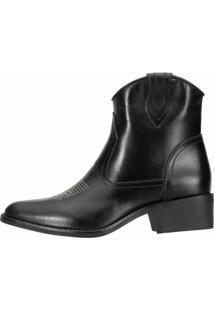 Bota Dududias10 Ankle Boot Cont Preta