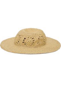Chapéu Flower Hat - Bege