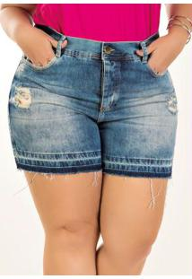 Short Plus Size Sawary Destroyed Jeans