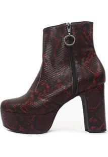 Bota Damannu Shoes Nancy Feminina - Feminino-Vermelho