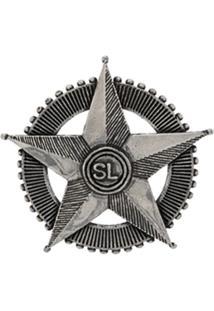 Saint Laurent Broche Com Estrela - Metálico