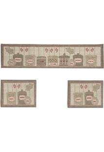 Tapete Cozinha Sisal Look 1- 41X160 Cm E 2 - 41X60 Cm Castor V-112 | Rayza
