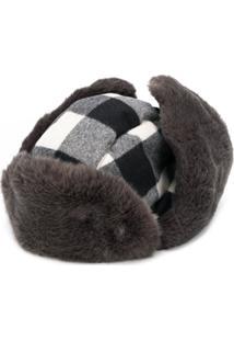 Woolrich Arctic Check Pattern Hat - Cinza