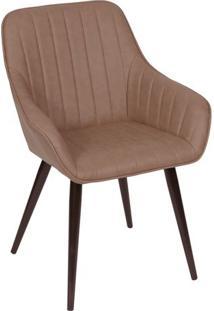 Cadeira Florenã§A- Caramelo & Marrom Escuro- 84X60X41Or Design