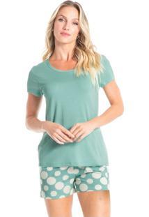 Pijama Curto Estampado Quartzo