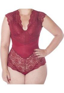 Body Liebe Plus Size Rendado Bojo Copa C Feminino - Feminino