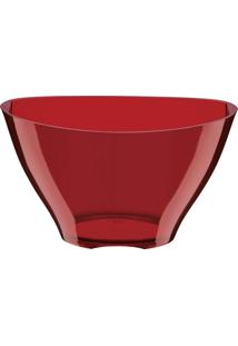 Champanheira Elegance Vermelha Translúcida Poliestireno 7 Litros