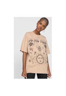 Camiseta Colcci We Are Pulse Bege