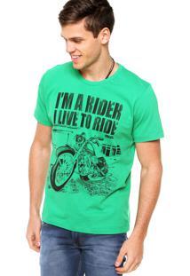 Camiseta Manga Curta Colcci Rider Verde