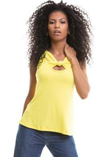 Blusa Lisa Cavada Amarelo