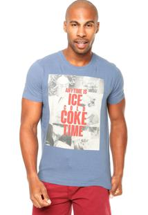 Camiseta Coca-Cola Jeans Regular Coke Time Azul
